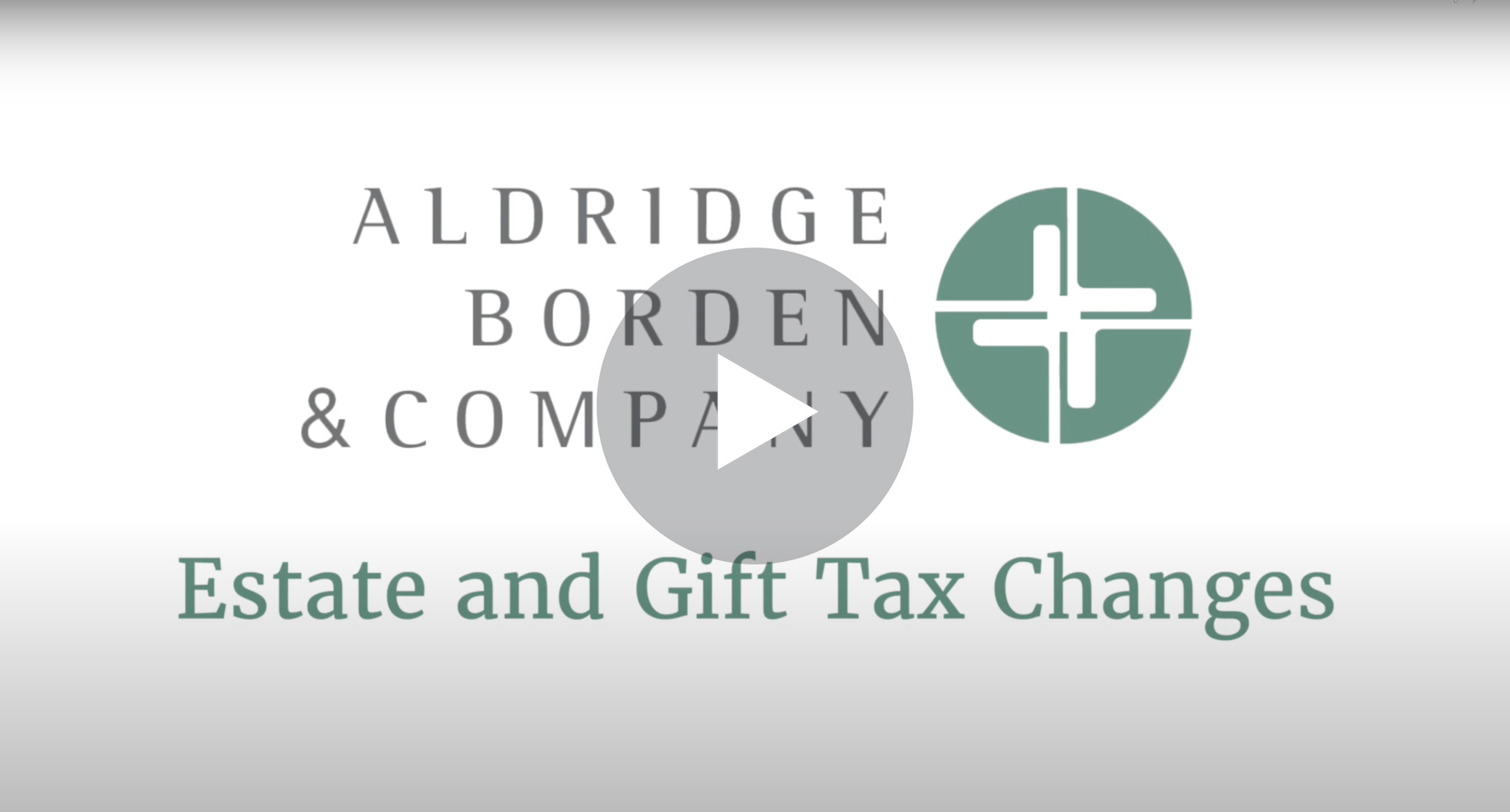 Estate And Gift Tax Changes