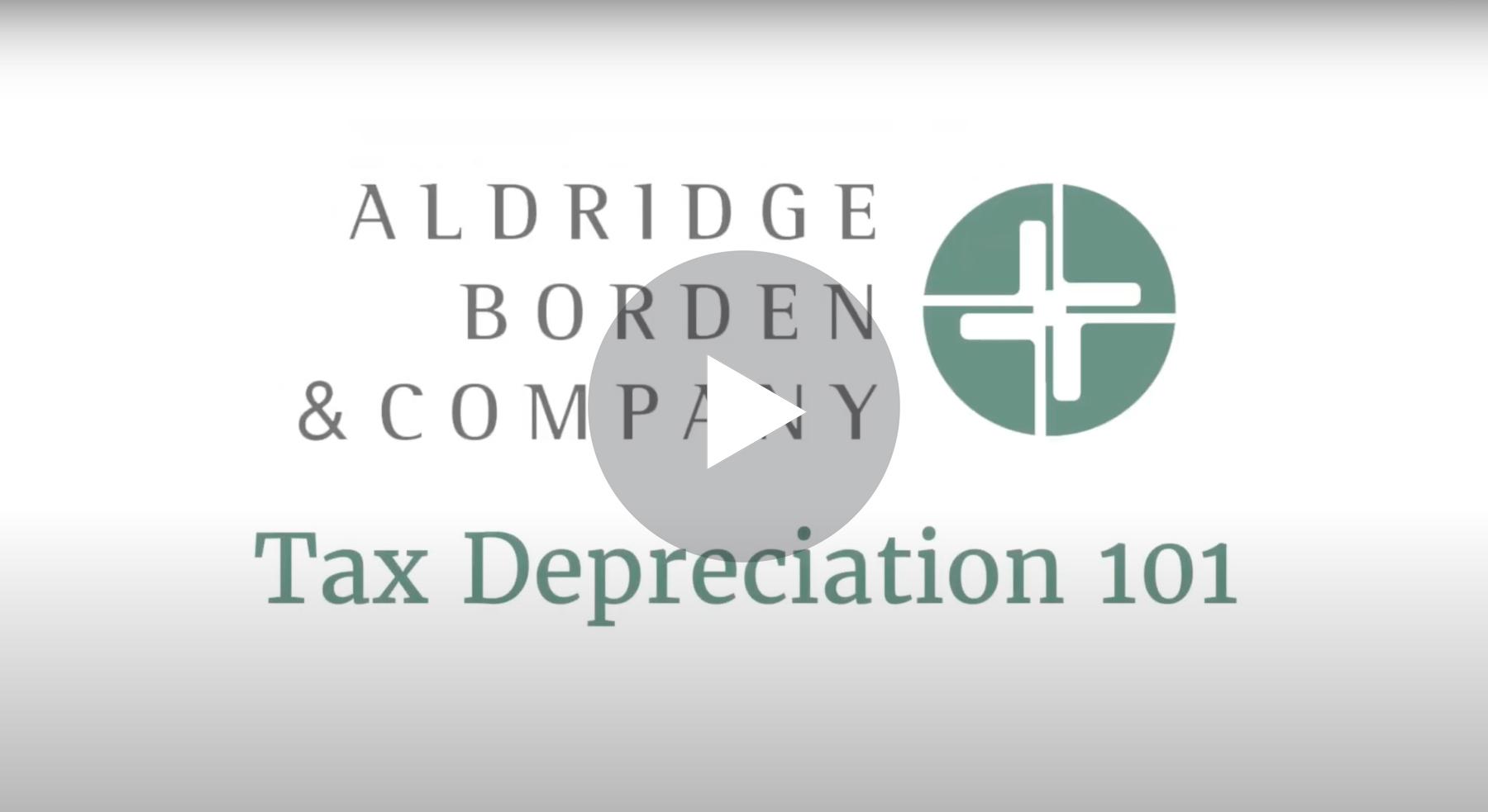 Tax Depreciation 101